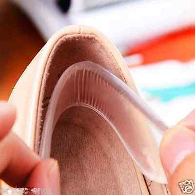 Gel Apretones del talón De Silicona Protector De Agarre Forro plantilla Pad Zapato Cojines del amortiguador insertar