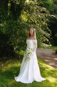 Pagan Wedding Dresses.Details About Medieval Pagan Wedding Dress Handfasting Dress Ivory Custom Made 6 8 10 12 14 16