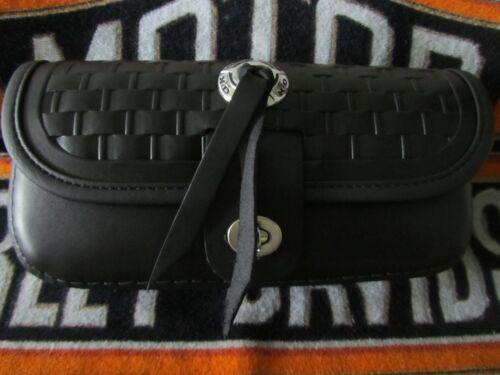HERITAGE SPRINGER FLSTS WINDSHIELD BAG//OBSOLETE//99-03 BLACK TRIM NEW LOOK !