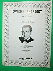 1953-CROMWELL-MUSIC-INC-NEW-YORK-PERCY-FAITH-039-S-SWEDISH-RHAPSODY-PIANO-SOLO