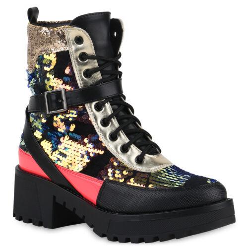 Damen Stiefeletten Leicht Gefütterte Boots Prints Schuhe 835766 Trendy Neu