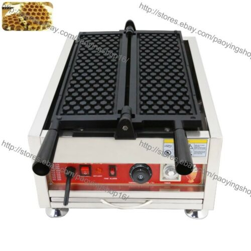 Turnable Commercial Nonstick Electric Honeycomb Waffle Baker Maker Iron Machine