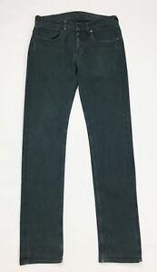 Scout jeans uomo usato gamba dritta slim verde W30 tg 44 boyfriend T4025