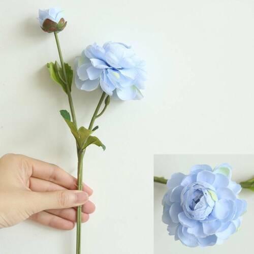 2 Head Fake Lotus Artificial Silk Flowers Bridal Wedding Bouquet Home Room Decor