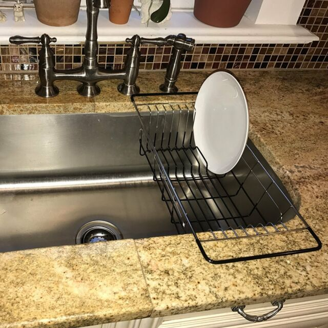 Adjustable Over Sink Dish Drying Rack Stainless Steel Dish Drainer ...