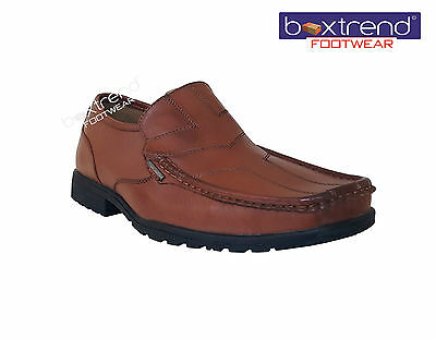 2019 Neuer Stil New Mens Slip On Office Work Casual Gents Dress Formal Smart Shoes Wedding Tan