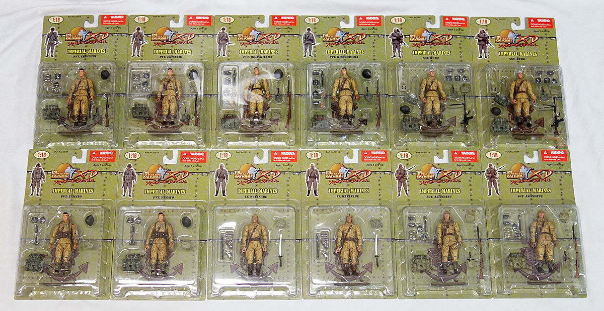 21st Century Toys 1 18 XD WWII Japanese Imperial Marines 12 Figure Lot MOC