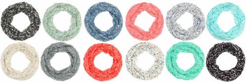 Loopschal Tuch Schlauchschal Halstuch Seide Baumwolle Leichter Schal mit Blumen