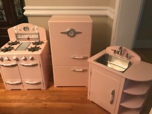 Details about SOLD... Pottery Barn Retro Kitchen - Gently Used Lt. Pink
