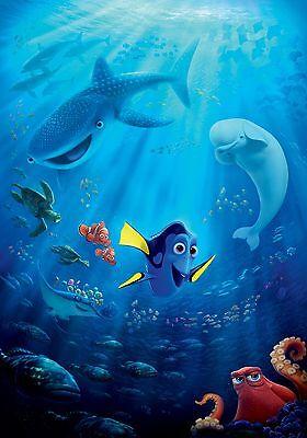 Finding dory poster cartone animato animazione walt disney pixar ebay