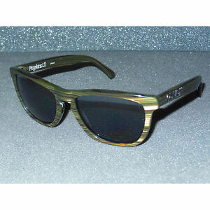 255f741790a29 New Oakley Frogskins LX Banded Green Grey POLARIZED Acetate Sport ...