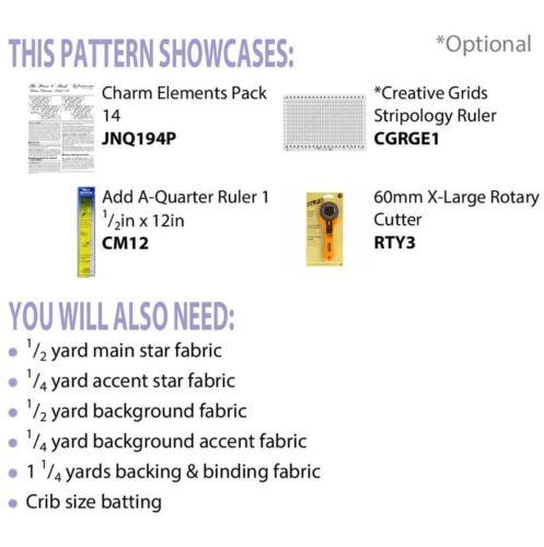 Étoile du Nord Hexagone Table Topper Quilt Pattern