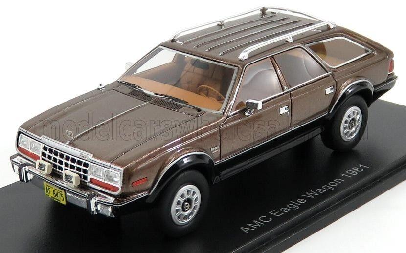 Wonderful NEO-modelcar AMC EAGLE WAGGON 1981 - metallic Marrone - 1/43 - ltd.ed.