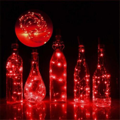 10Pack Solar Powered 20LEDs Wine Bottle Lights Cork Fairy LED String Light Decor