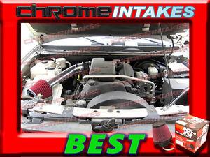 K/&N+BLACK RED 04 05  CHEVY TRAILBLAZER//GMC ENVOY//BRAVADA 4.2 4.2L AIR INTAKE 2