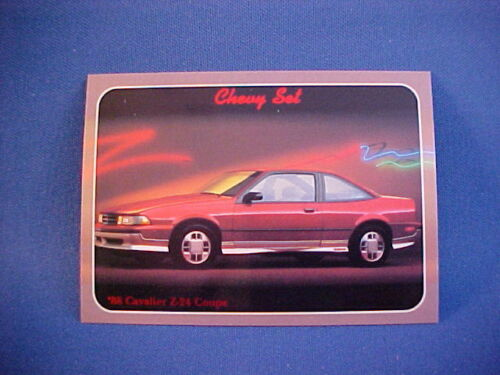 1988 Chevy Cavalier Z24 collector card from 20 yr old set--mint brand new 88