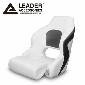 Leader Accessories Two Tone Captain's Bucket Seat Boat Seat White/Charcoal