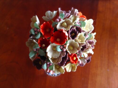 Vintage Millinery Flowers Forget Me Not for Doll EarthTone Mix or Pumpkin Kawaii