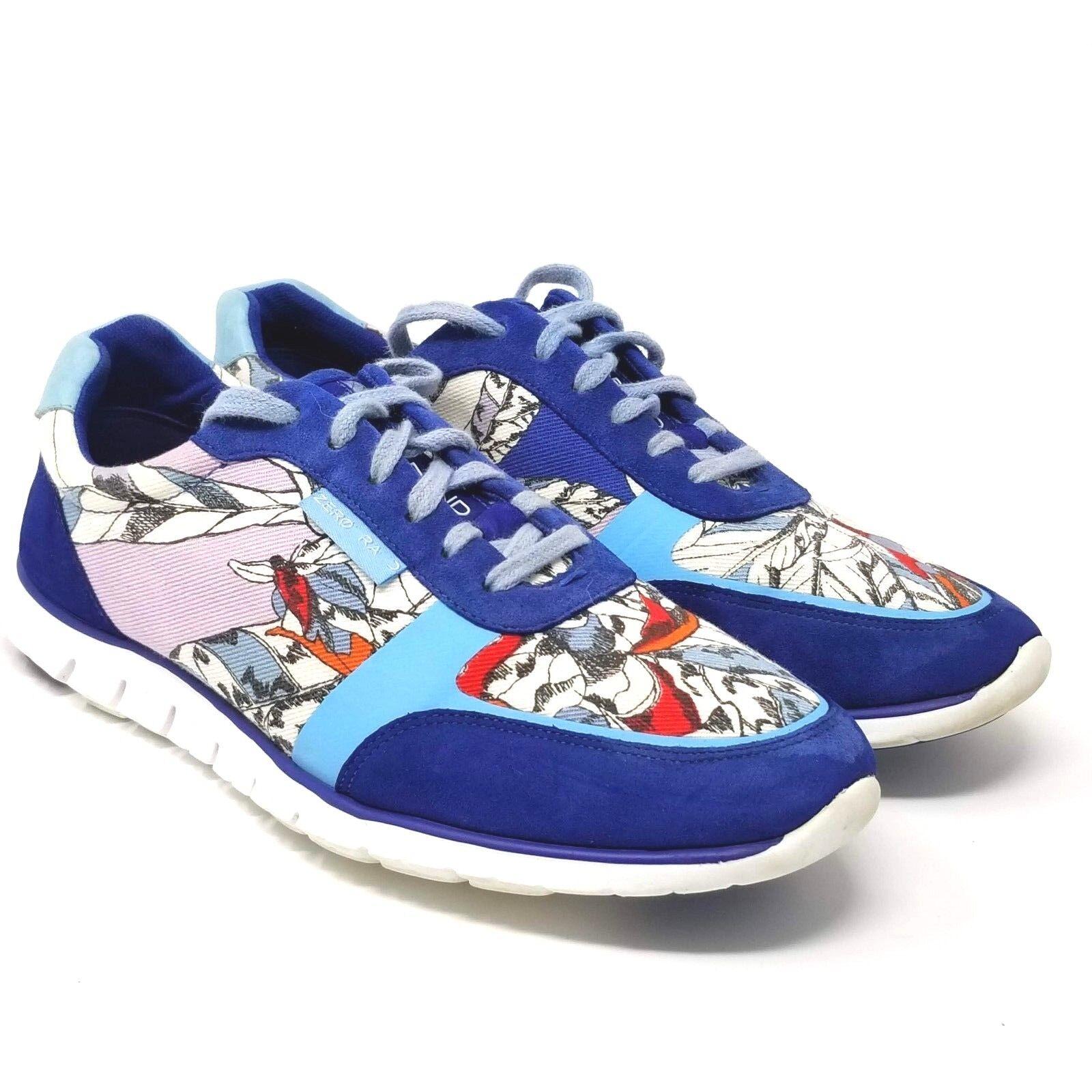 Cole Haan Womens bluee Zerogrand Classic Trainer Sneaker W01947 Floral Flower 7.5