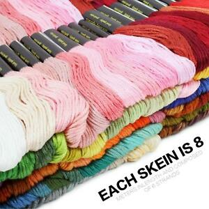 50X-Cotton-Cross-Floss-Stitch-Thread-Yarn-Embroidery-Sewing-Skeins-Multi-Colors