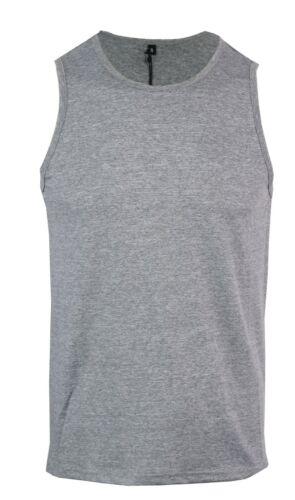 XXL Mens Vest Cotton Gym Shirt Basic Lycra Stretch Training Running S