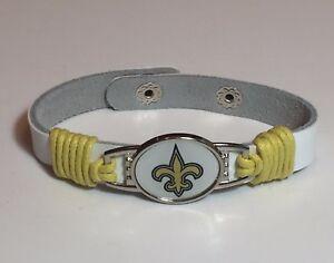 New New Orleans Saints Leather Adjustable Bracelet Gift For Her Mom