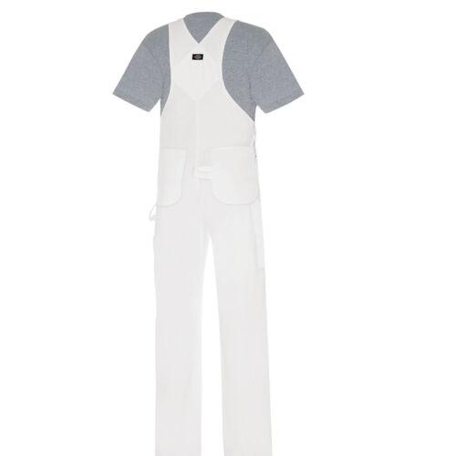 Dickies Latzhose BIB Overall White Arbeitsanzug Blaumann Arbeit Maler weiß
