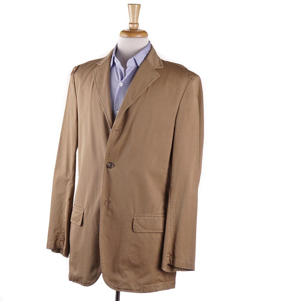 NWT 695 SEVENTY Tan Twill Cotton Casual Blazer 40 L (Eu 50) Sport Coat
