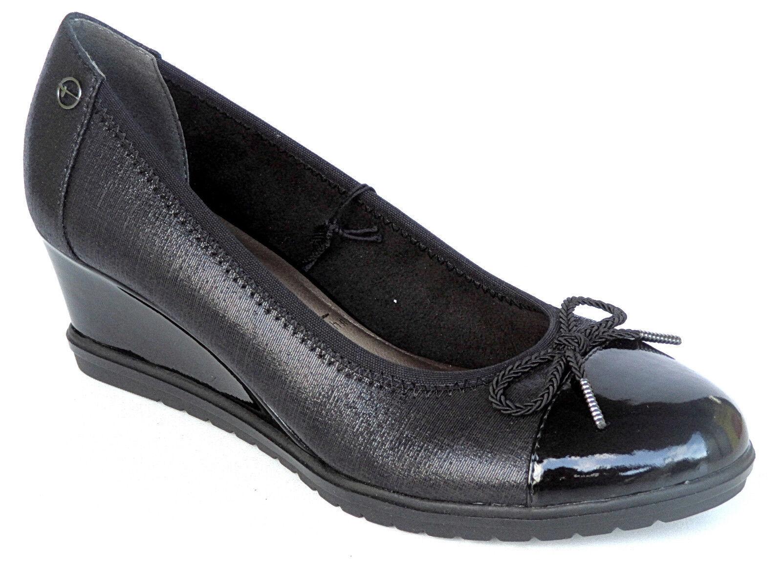 Tamaris  Schuhe Damen Schuhe Keil-Absatz  Pumps 1-22421-21 001 Gr.36-40  ++NEU++