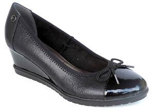 aa64e2e77fe748 Tamaris Schuhe Damen Schuhe Keil-Absatz Pumps 1-22421-21 001 Gr.36 ...