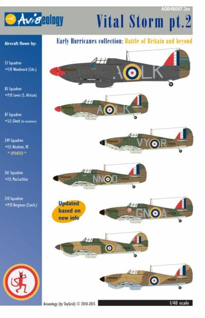 Vital Storm part 2: Early RAF Hurricanes – 1/48 scale Nicolson VC update only