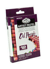 12 OIL PASTELS QUALITY COLOUR PIGMENT SET ARTISTS DRAWING & SKETCHING OILPA-512