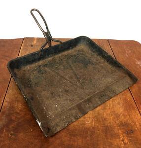 Antique Metal Wire Handle Primitive Vtg Dust Pan Sweeping Broom Catcher