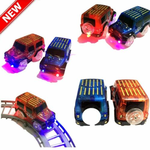 LED Light Up Cars For Magic Tracks Electronics Car Toys With Flashing Lights km