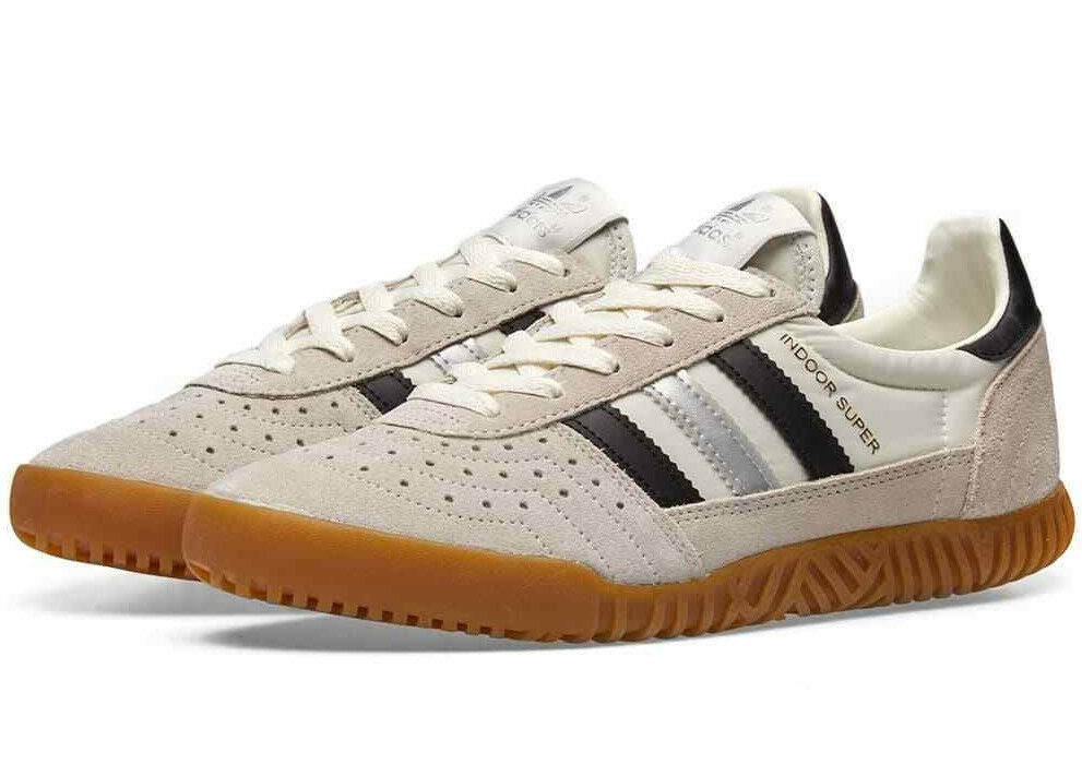 Venta de liquidación de temporada Nuevo Y En Caja Adidas Interior Super Reino Unido 8.5 Negro/Blanco/Plata con suela de goma CQ2223