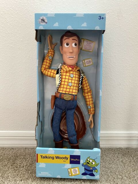 """Disney Parks Collectors Talking Woody Toy Story Pull String 16"""" Figure Doll New"""