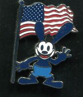 Oswald The Lucky Rabbit With Usa American Flag Disney Pin