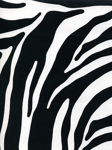 2 Meters x 45cm FABLON ZEBRA BLACK WHITE VINYL FILM STICKY BACK PLASTIC SELF ADH