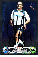 Bolton Wanderers F.C Kevin Davies Hand Signed 08/09 Championship Match Attax.