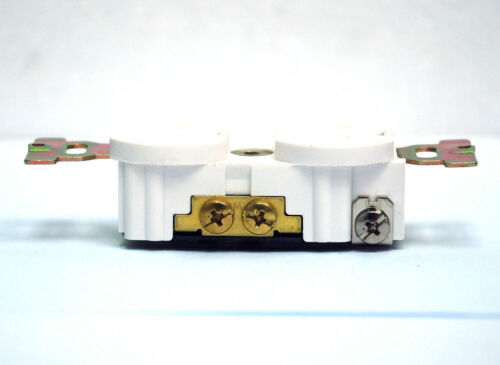 2pc White Bakelite AC Duplex Receptacle outlet LK3224F 15A 125V Taiwan