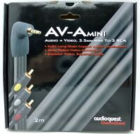 Audioquest AV-A Mini Camcorder Cable 2 meter  3.5mm mini to 3 RCA