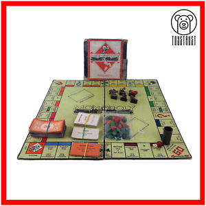 Monopoly-Board-Game-Vintage-Small-Box-Issue-Paper-Movers-1940s-by-J-Waddington