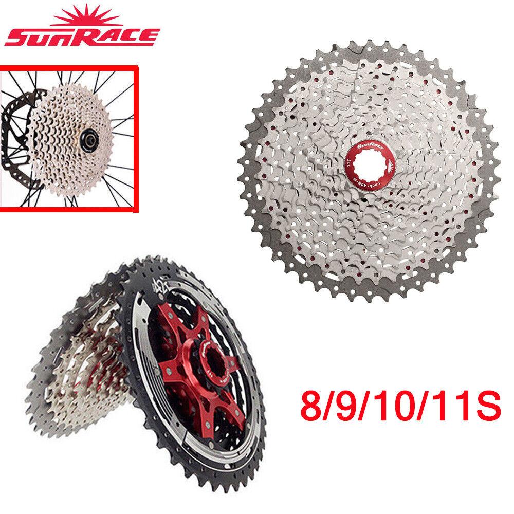 Sunrace MTB Road Bike Cassette 8 9 10 11 Velocidad Bicicleta Rueda Libre ajuste Shimano Sram