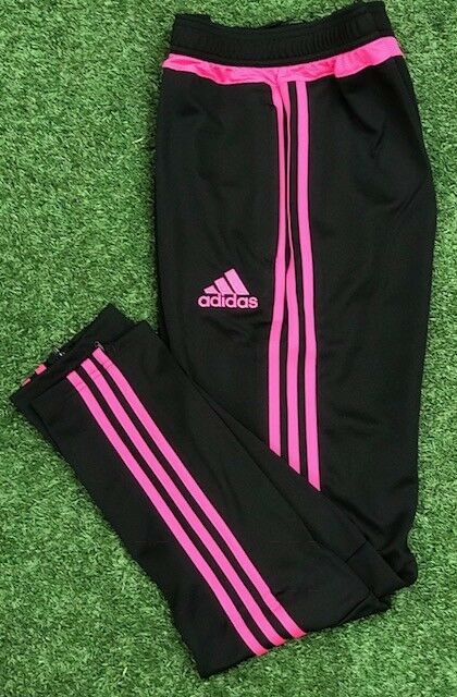 NEW Adidas Tiro 15 YOUTH Training Pants Climacool AP0340 BlackPink YL YXL