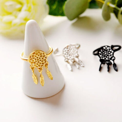 Friend Trendy Wish Ring Feather Pendant Fashion Jewelry Dream Catcher Ring