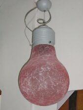 LAMPADARIO LAMPADINA LAMPADA DESIGN  MODERNA  IN VETRO SOSPENSIONE
