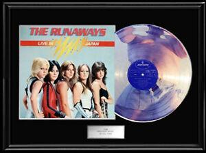 RUNAWAYS-JOAN-JETT-WHITE-GOLD-SILVER-PLATINUM-TONE-RECORD-LP-VINYL-ALBUM-RARE