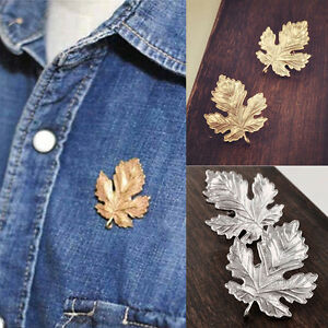New-Clothes-Accessories-Leaf-Brooch-Pins-Chic-Vintage-Brooches-For-Women-Man-Tf