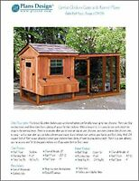 Backyard Chicken Coop Plans With Kennel / Run, Salbox / Lean-to 4 Ft X 10 Ft Two on sale