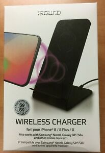 12dda164a37 isound Wireless Charger for iPhone 8 / 8 Plus / iPhone X Open Box ...